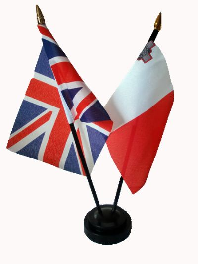 UNION JACK / MALTA - Friendship Table Flags